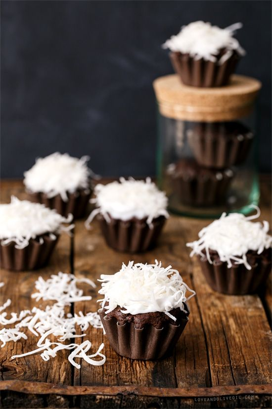 (You'd never guess they're)-Vegan Chocolate Coconut Cupcakes, with Whipped Coconut Cream Frosting