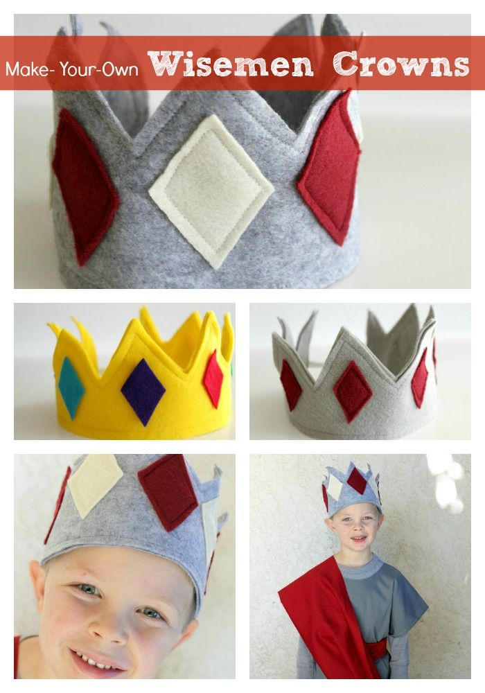 Make your own ADORABLE wise-men crowns for Christmas! How cute are these? Instructions via SomewhatSimple