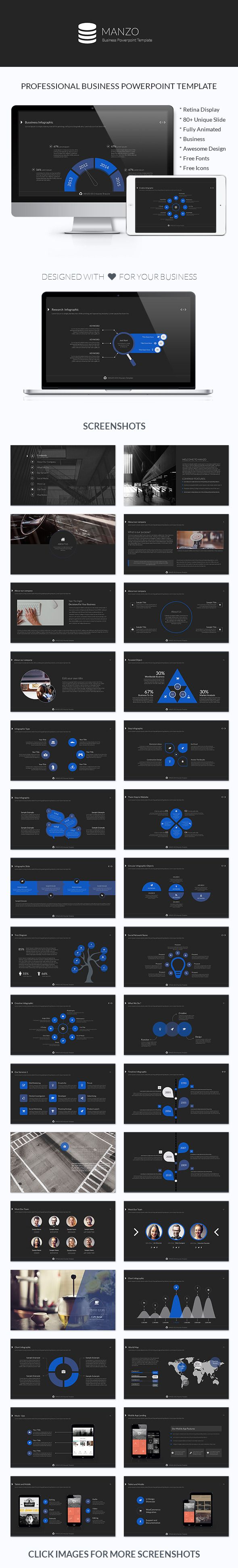 Manzo Business #Powerpoint Professional & Corporate Presentation