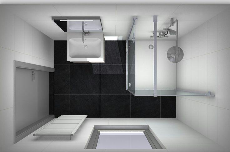Ontwerp kleine #badkamer bij Van Wanrooij. Alles over kleine badkamers op http://kleinebadkamers.nl/