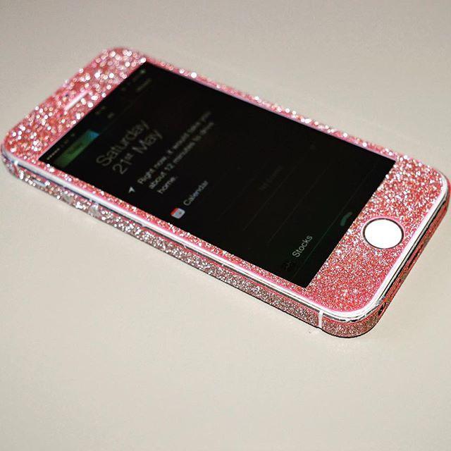 #Glitter #iPhone #5S #SE #Oplix #Skin #pink