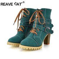 Vrouwen hoge hak half korte enkellaarsjes winter martin sneeuw botas mode schoeisel warm hakken boot schoenen P7736 34-39 lace up