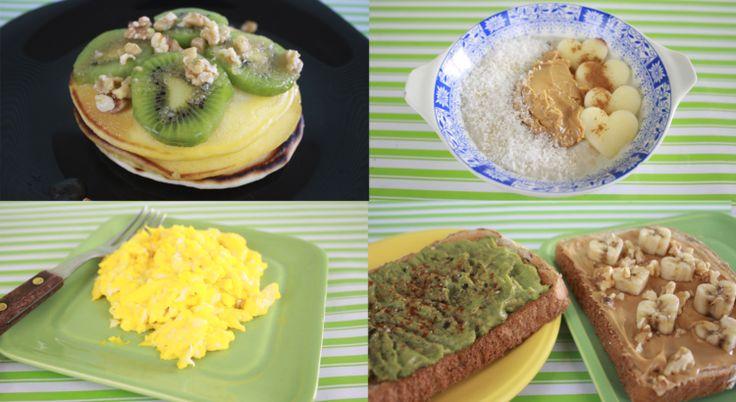 Desayunos Americanos Saludables: Hotcakes, tazón de avena, huevos revueltos y más | Frutilla Picante