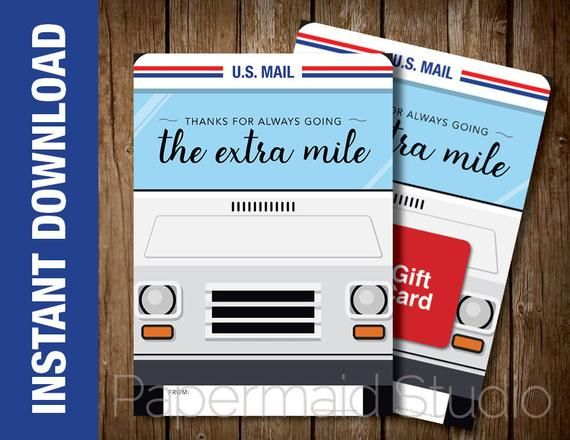for Letter Carrier my USPS Thank You Card for my Mail Carrier my Postal Worker Card for the Person who delivers the mail