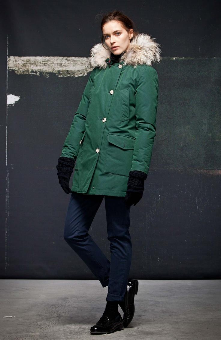 Woolrich Byrd Cloth Arctic Parka Rosa