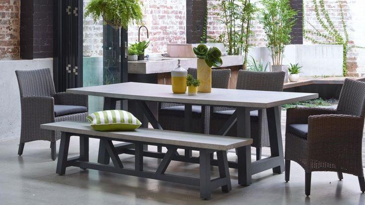 Tonic 6 Piece Outdoor Rectangular Dining Setting