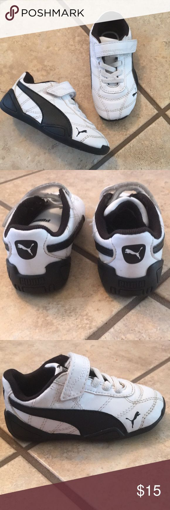 Puma toddler shoes 💕SALE💕 Black-and-white lace less pumas. Puma Shoes Sneakers