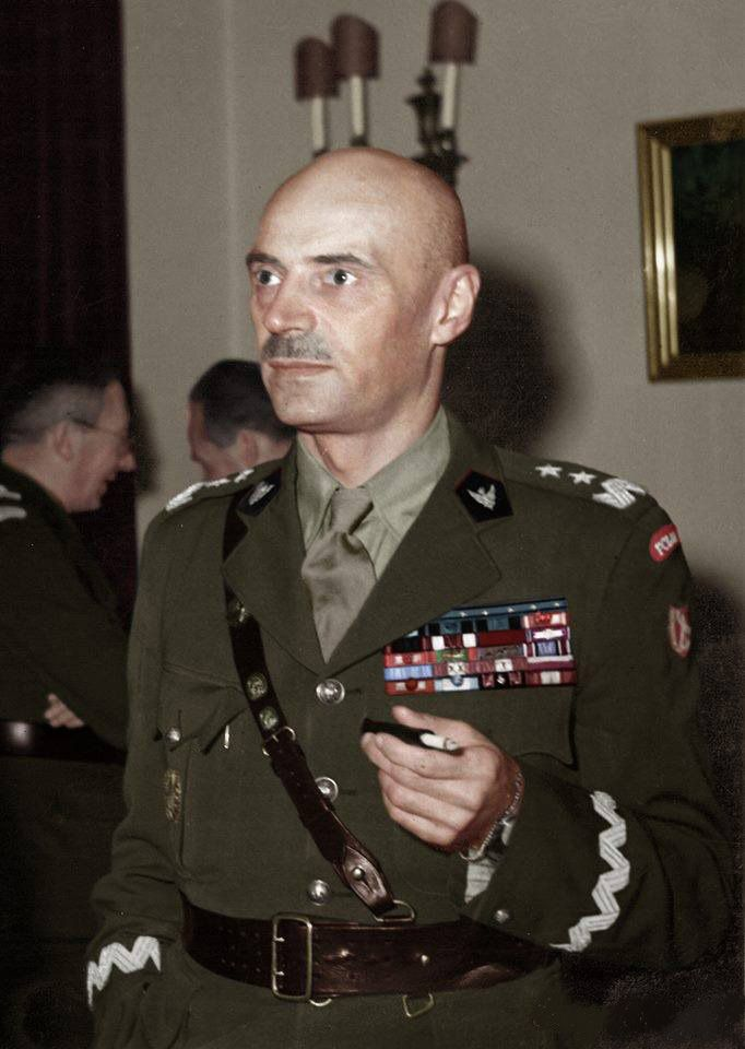 Władysław Anders (1892-1970) was a General in the Polish Army and later a politician with the Polish government-in-exile in London. He was in command of a cavalry brigade at the time of the outbreak of World War II, but was forced to retreat. During the fighting and retreat, he was wounded and was later taken prisoner and jailed by Soviet forces. After the attack on the Soviet Union by Germany on June 22, 1941, Anders was released to form a new Polish Army to fight with the Red Army.