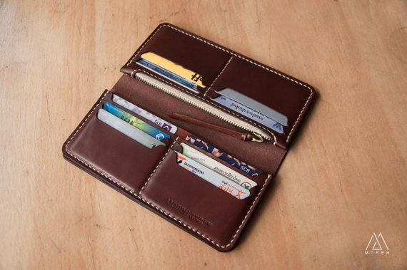 Morph long Wallet by MORPHLeather on Etsy