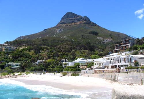 My most favorite view in all the world, standing on Clifton 3rd beach looking at Lion's Head.