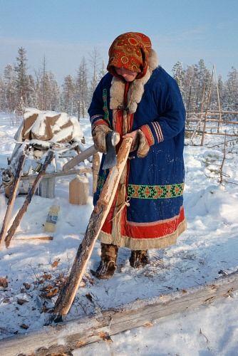Khanty people - indigenous people of Khanty-Mansiysk / Siberia, Russia © Bryan & Cherry Alexander Photography / ArcticPhoto