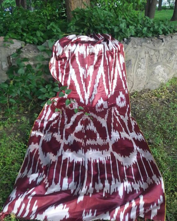 FREE SHIPPING A piece of Uzbek handmade 2.5 meters 100% silk
