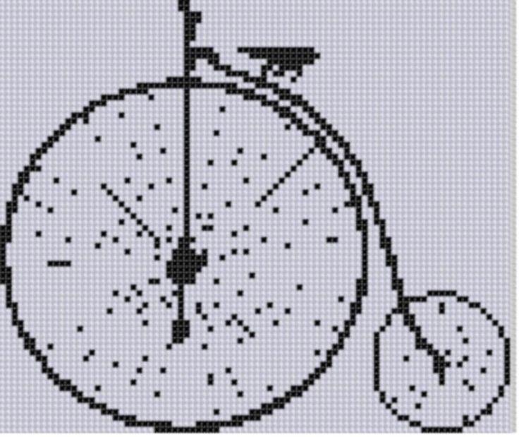 Big Wheel Bike Cross Stitch Pattern