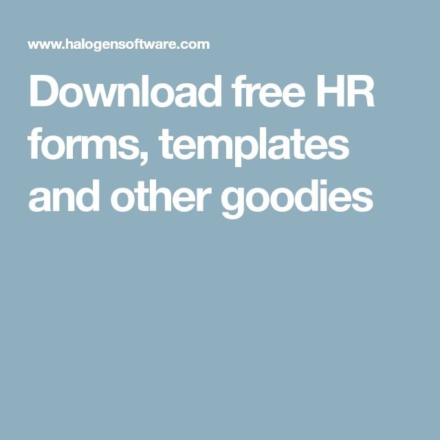 Download free HR forms, templates and other goodies