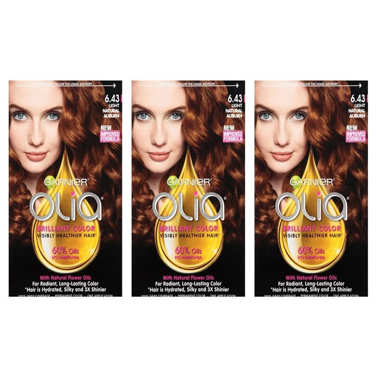 Garnier Hair Color Olia Oil Powered Permanent Hair Color, 6.43 Light Natura, 3 count *** More info could be found at the image url. #hairgrowth