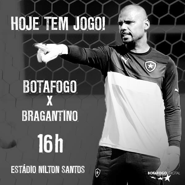 Hoje tem jogo do Botafogo, o Glorioso é o meu grande amor!
