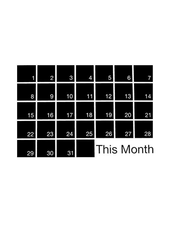 WEEW-Design-lavagna-adesiva-calendario-mese-idee-regalo-originali-per-arredare-casa-e-ufficio-Mind Wall #M 01
