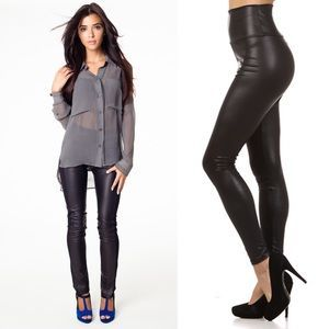 I just added this to my closet on Poshmark: RESTOCKED Tummy Tuck Slimming Faux Leather Legging. Price: $38 Size: Various