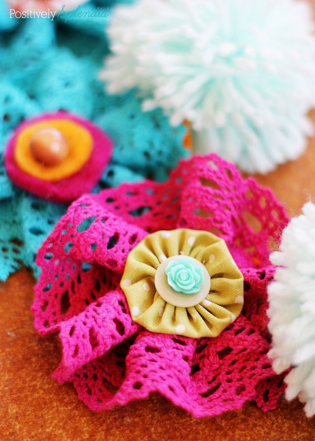 how to make fabric and lace flowers