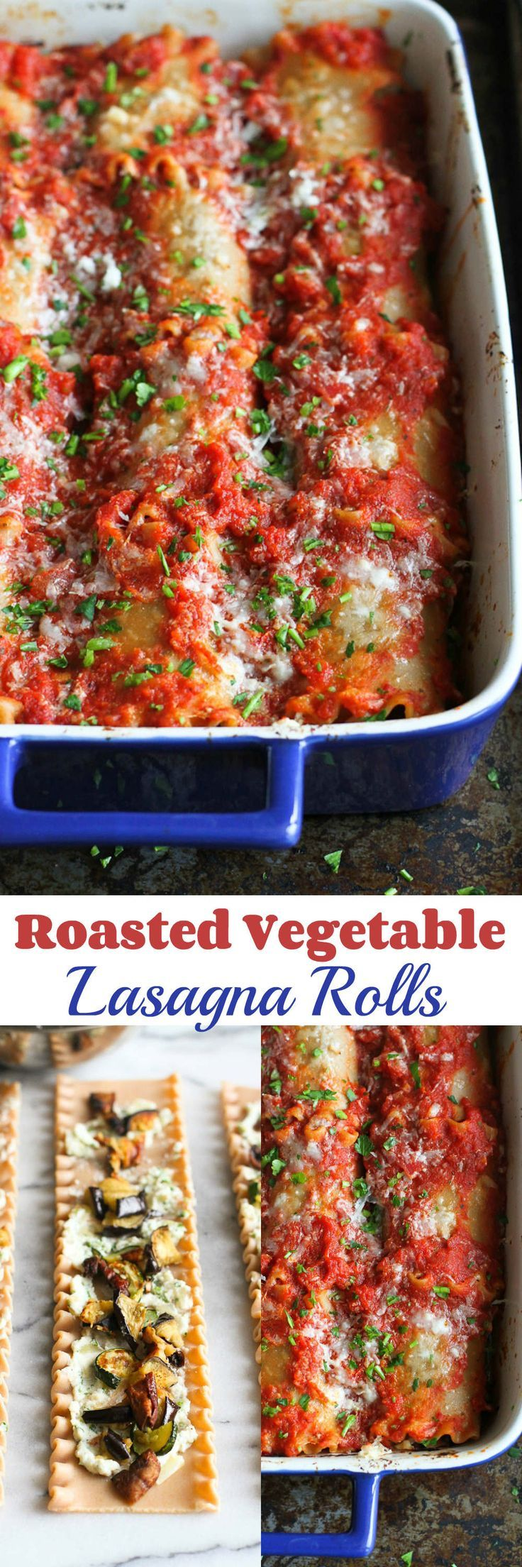 Roasted Vegetable Lasagna Rolls…All the comfort of regular lasagna, with a healthy twist! 185 calories and 5 Weight Watcher SmartPoints