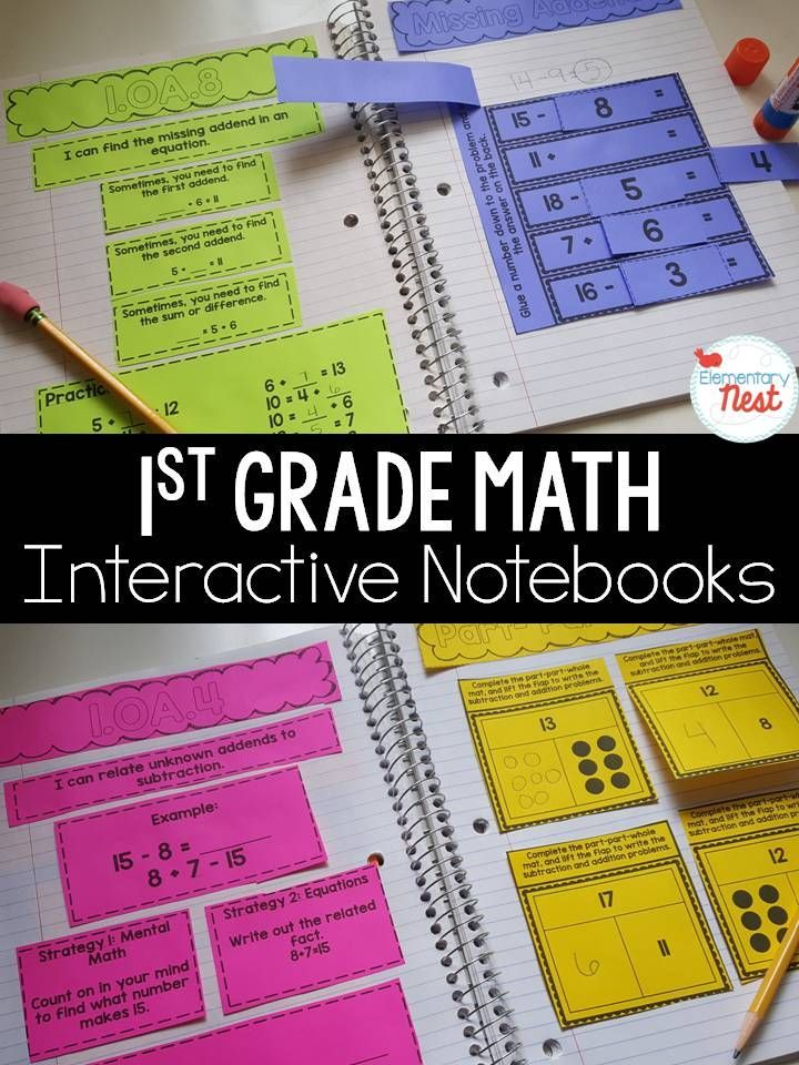 1st grade math interactive notebook- aligned common core activities. input activity for learning and practice, then 3-8 practice output activities
