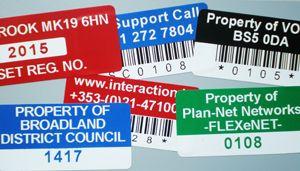 Vinyl Asset Labels - Create your own vinyl labels for asset labeling.