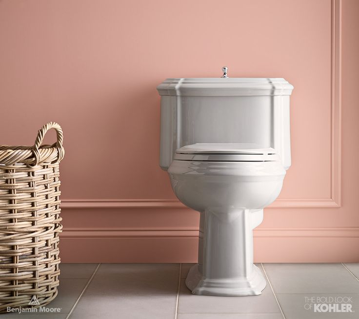 Love Kohler S Portrait One Piece Toilet Rosy Pink Bathroom Collaborationinfullcolor