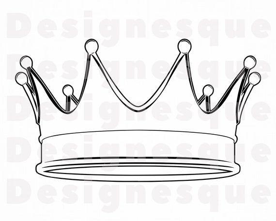 Crown Outline 7 Svg Crown Svg King Svg Queen Svg Princess Etsy Crown Outline Crown Clip Art King Crown Drawing