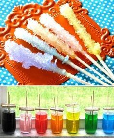Colored rock candy is the science experiment that you can eat.   24 Kids' Science Experiments That Adults Can Enjoy, Too