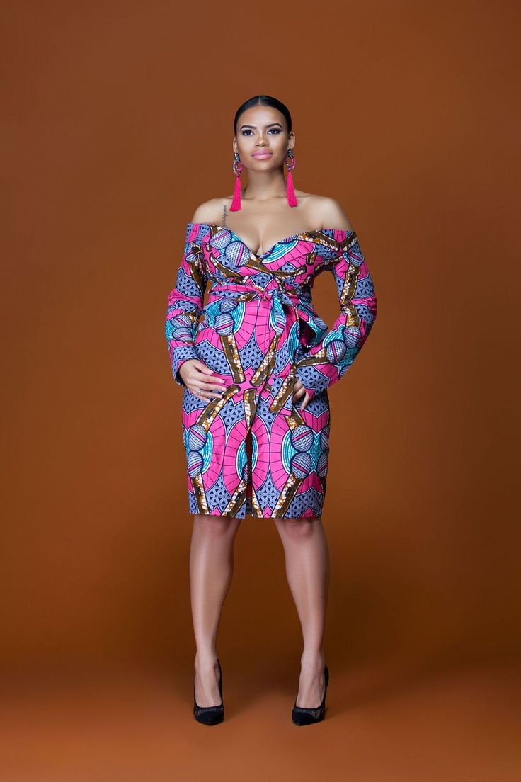 African Print Tatiana Midi Dress  Grass-fields  perfect dress from the office straight to dinner with ease