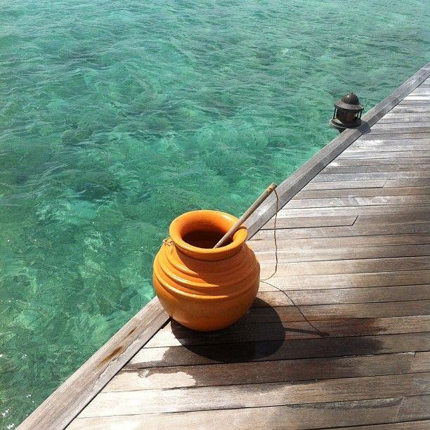 När man har sand mellan tårna på #constance moofushi så kan man skölja rent, de har då tänkt på allt. #maldiverna #jordenruntmedving #ving #vingresor Läs mer om Maldiverna på http://www.ving.se/maldiverna/maldiverna