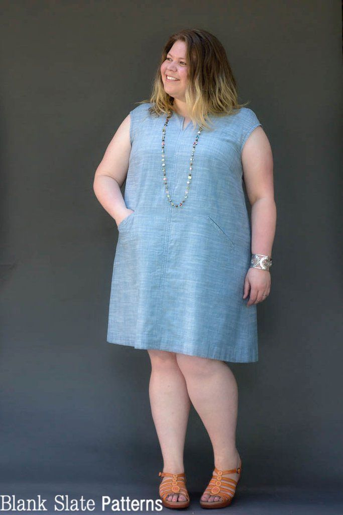 Leralynn Dress Blank Slate Patterns Plus Size Sewing