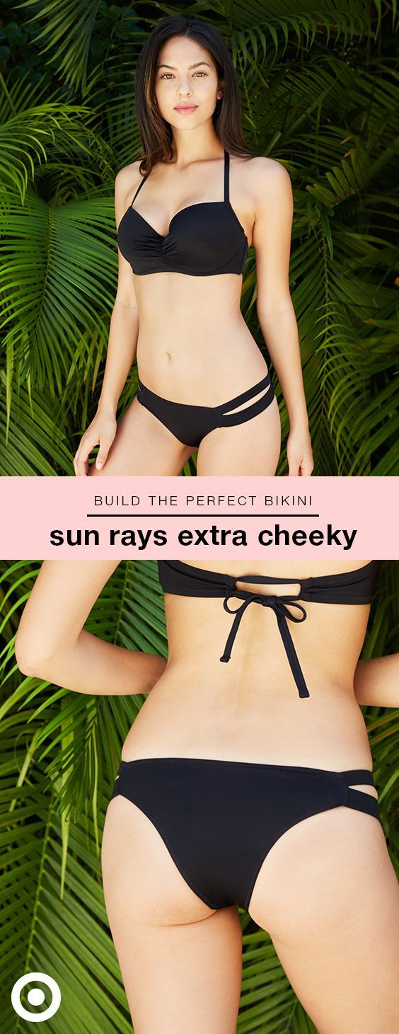 Looking for a bikini that shows off your curves? Then try Shade & Shore's Sun Rays bottom. Our most revealing cut, the style features the least back coverage but it's designed to fit, which means it stays in place and looks amazing. Choose from variety of colors and patterns, then pick your favorite Shade & Shore bra-size bikini top (mix and match!). Bonus: free shipping & returns makes it easy to order multiple sizes and styles, and then decide what you'd like to keep.