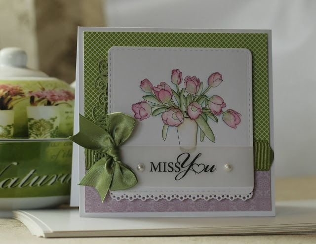 Handmade by Mihaela: Miss you card