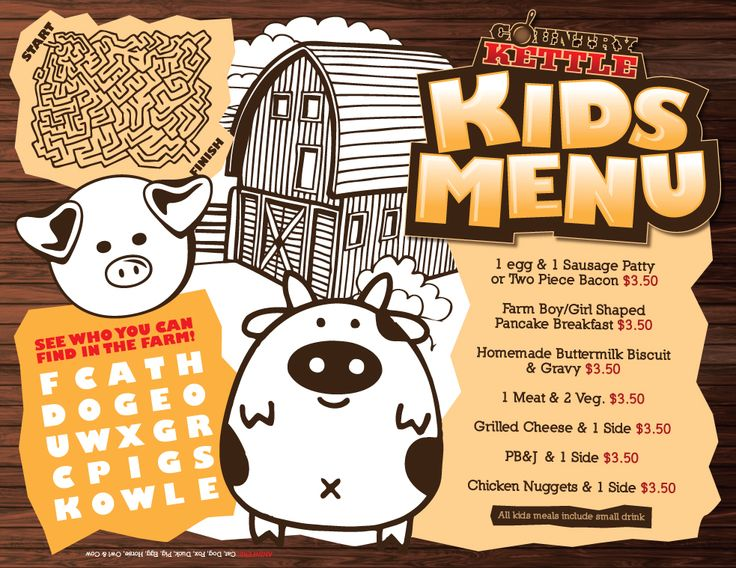 23 best ideas images on Pinterest - free kids menu templates
