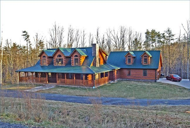 log home plans and prices | ... Debbie Hewett, Germanton, NC Log Home Hewett2 – Cedar Log Cabin Kits