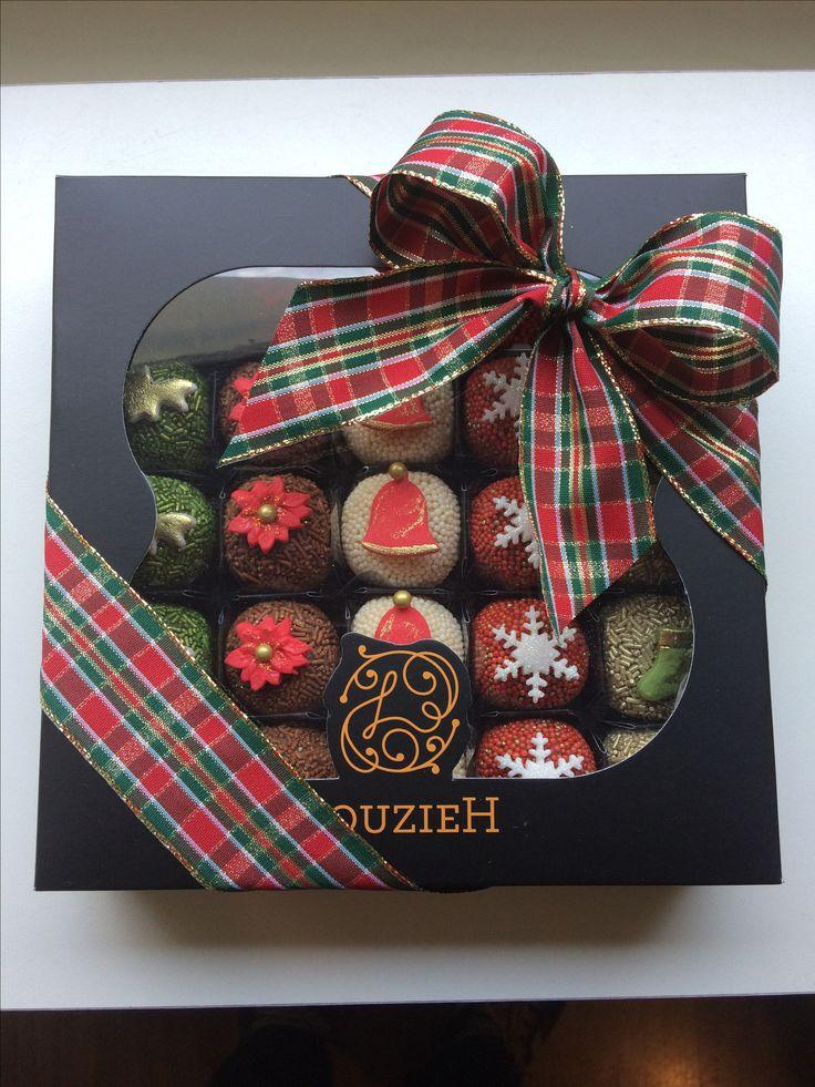Caixa de bombom para presente de Natal
