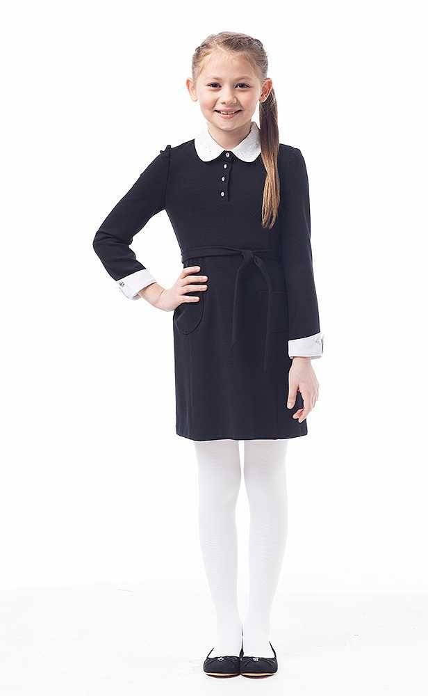 Серые школьные платья для девочек
