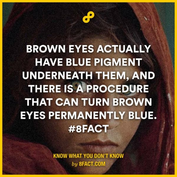 Brown eyes actually have blue pigment underneath them.