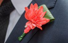 Neon geometric wedding #groom #weddingflowers