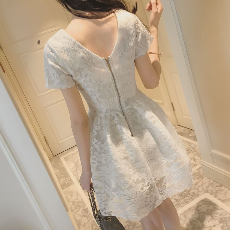 Goedkope Vrouwen zomer mode jurk 2016 effen wit zwart kant feestjurken chiffonwomen's wc56 kleding, koop Kwaliteit jurken rechtstreeks van Leveranciers van China:     ......................