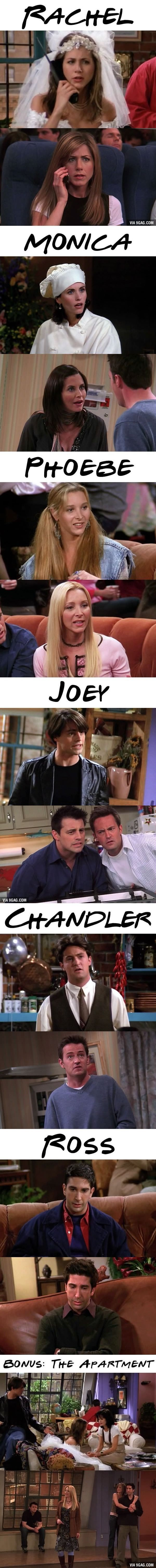 Friends; the first episode vs. the last