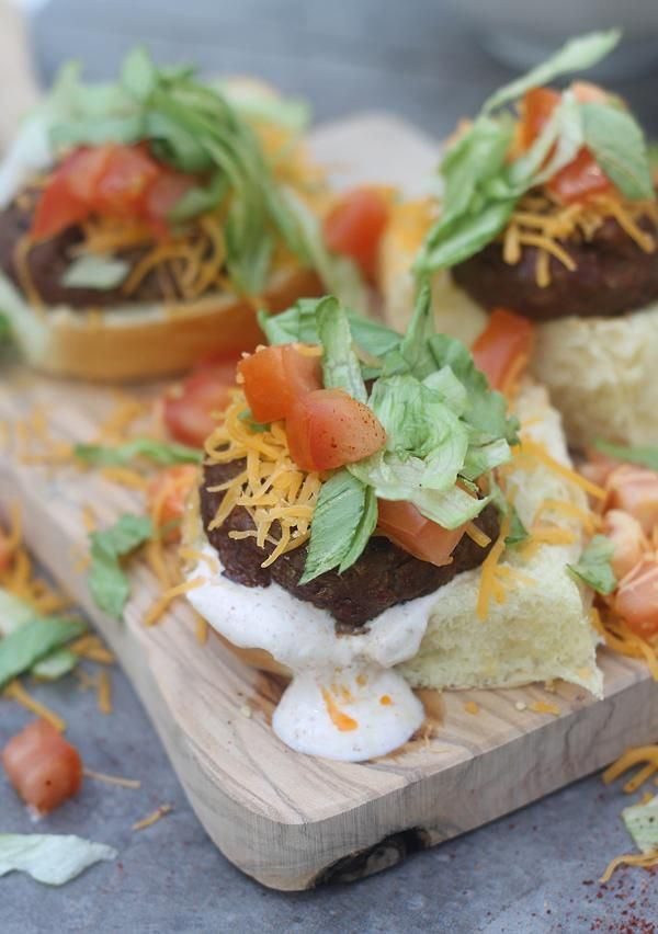 Supreme Taco Burgers via @Nicole Novembrino Novembrino Novembrino Novembrino Shoemaker (Cooking for Keeps)