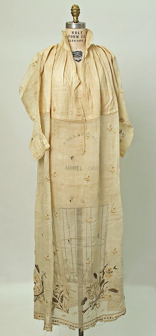Date: 1800–1941 Culture: European Medium: linen The sheerness of this is amazing.
