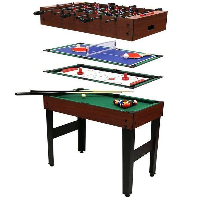 Multi Sports Game Table Tennis Push Hockey Pool Football Players Bats Kids  Gift