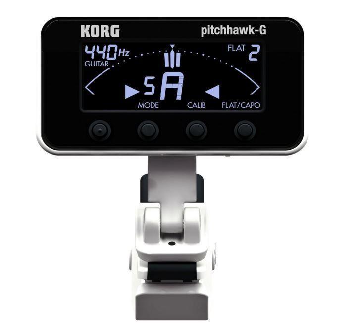 KORG AW-3G WH Pitch Hawk Clip on Tuner White Guitar Tuner Japan F/S #Korg