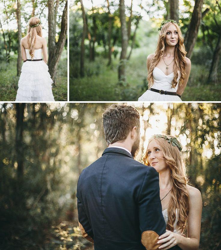 Forest bride #Wedding #Photoshoot #Forest #Wood #Trees #Nieu-Bethesda #Karoo #CharlieRay