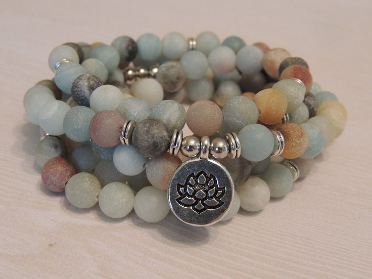 Matt Amazonite 108 Bead Mala Necklace or wrap Bracelet