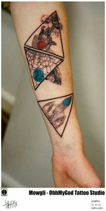 Tatuaja - tatto triángulo