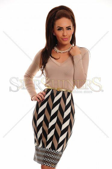 MissQ Delicate Appear Cream Dress